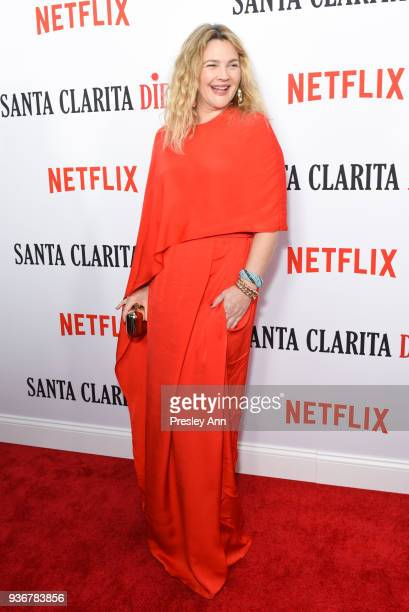 Drew Barrymore attends Santa Clarita Diet Season 2 Premiere at ArcLight Hollywood on March 22 2018 in Hollywood California