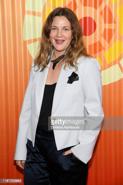 Drew Barrymore attends The Charlize Theron Africa Outreach Project fundraising event at The Africa Center on November 12, 2019 in New York City.
