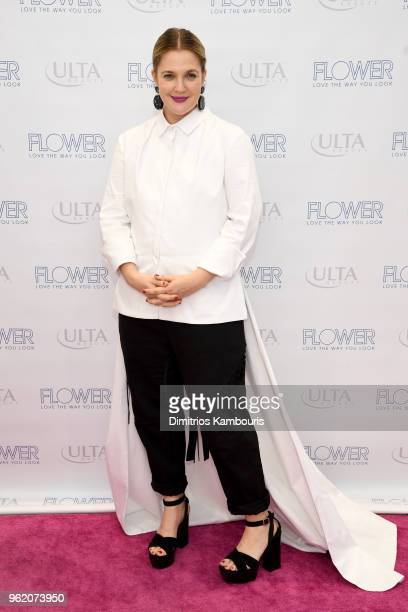 Drew Barrymore attends the Drew Barrymore x Flower Beauty Ulta PA on May 23 2018 in New York City