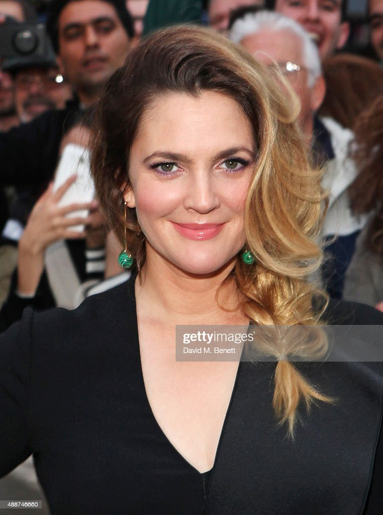Drew Barrymore attends the European Premiere of 'Miss You Already' at Vue West End on September 17, 2015 in London, England.