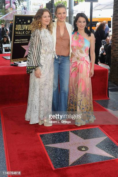 Drew Barrymore, Cameron Diaz and Lucy Liu reunited 'Charlie's Angels' cast attend Lucy Liu's Star Cermony On The Hollywood Walk Of Fame on May 1,...