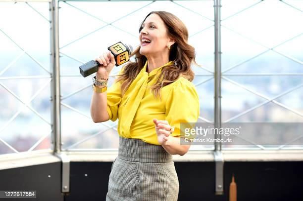 Drew Barrymore celebrates the Launch of The Drew Barrymore Show at The Empire State Building on September 14, 2020 in New York City.