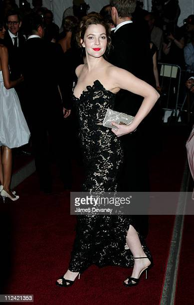 Drew Barrymore during AngloMania Costume Institute Gala at The Metropolitan Museum of Art Arrivals Celebrating AngloMania Tradition and Transgression...