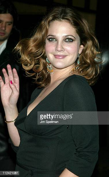 """Drew Barrymore during """"Confessions of A Dangerous Mind"""" - New York Premiere - Arrivals at Paris Theatre in New York City, New York, United States."""