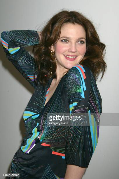 "Drew Barrymore during Drew Barrymore and Jimmy Fallon Visit MTV's ""TRL"" - April 5, 2005 at MTV Studios - Times Square in New York City, New York,..."