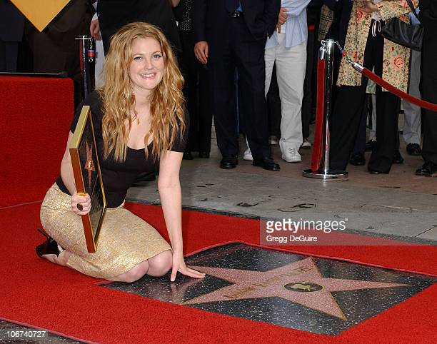 Drew Barrymore during Drew Barrymore Honored with a Star on the Hollywood Walk of Fame for Her Achievements in Film at Hollywood Blvd in Hollywood...