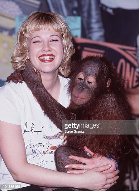 Drew Barrymore during Drew Unveils Her New TShirt Designed for Planet Hollywood Wildlife Waystation at Planet Hollywood in Beverly Hills California...