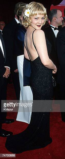 Drew Barrymore during The 70th Annual Academy Awards Red Carpet at the Shrine Auditorium in Los Angeles California