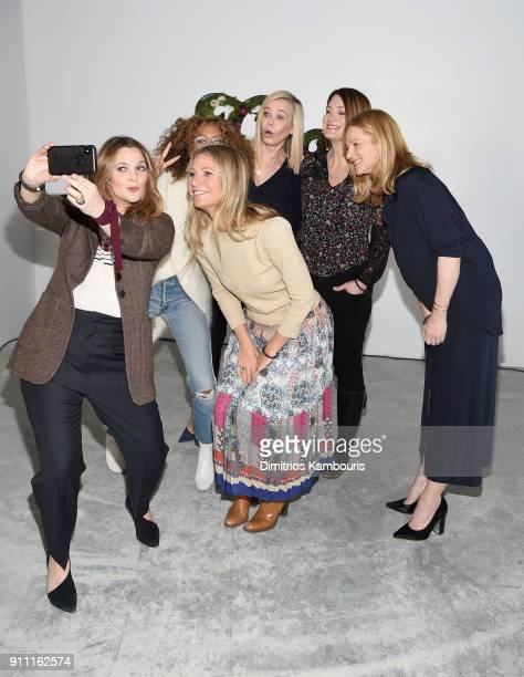 Drew Barrymore, Elaine Welteroth, Gwyneth Paltrow, Chelsea Handler, Gilian Flynn and Laura Linney attend the in goop Health Summit on January 27,...