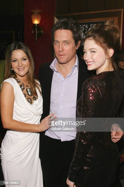 Drew Barrymore Hugh Grant and Haley Bennett during 'Music and Lyrics' New York City Premiere Inside Arrivals at The Ziegfeld Theater at 141 West 54th...