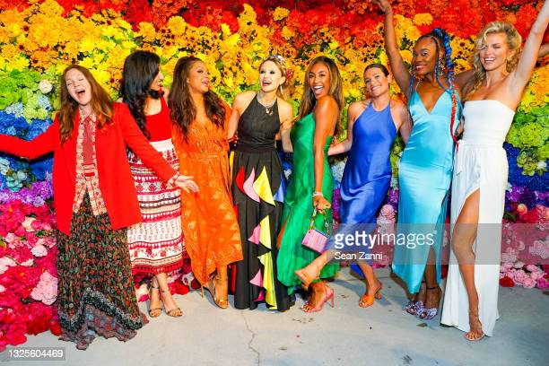 Drew Barrymore, Huma Abedin, Eboni K. Williams, Stacey Bendet, Tayshia Adams, Lea Michele, Ebony Williams and AnnaLynne McCord attend alice + olivia...