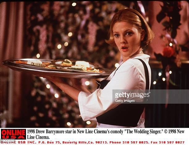 Drew Barrymore in New Line Cinema's comedy 'The Wedding Singer'