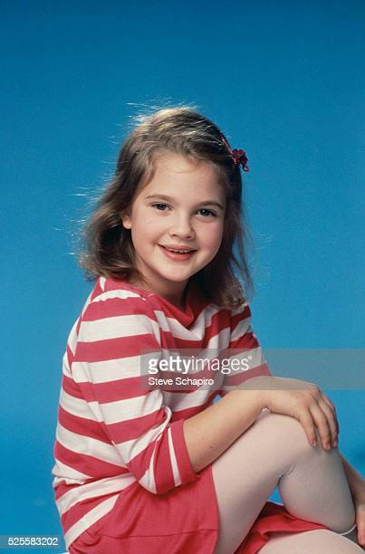 Drew Barrymore in Striped Shirt