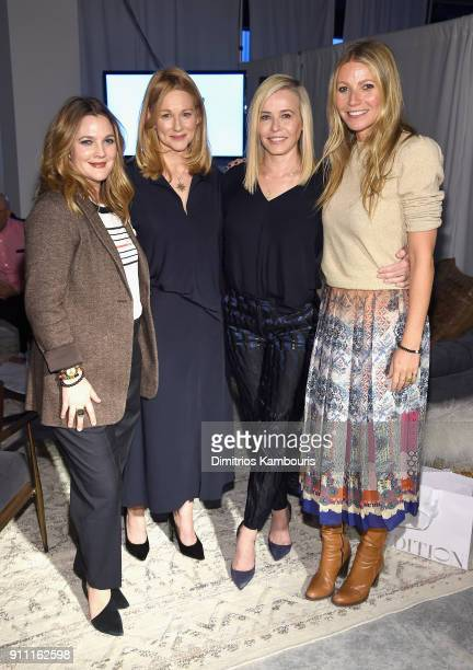 Drew Barrymore, Laure Linney, Chelsea Handler and Gwyneth Paltrow attend the in goop Health Summit on January 27, 2018 in New York City.