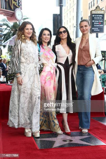 Drew Barrymore Lucy Liu Demi Moore and Cameron Diaz attend a ceremony honoring Lucy Liu With Star On The Hollywood Walk Of Fame on May 01 2019 in...