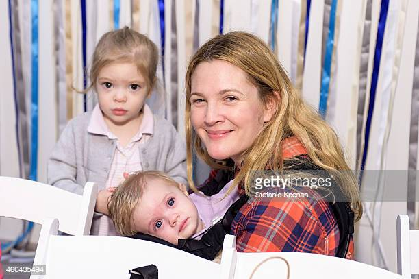 Drew Barrymore Olive Barrymore Kopelman and Frankie Barrymore Kopelman attend Baby2Baby Holiday Party Presented By The Honest Company on December 13...