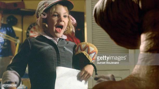 Drew Barrymore on the set of ET