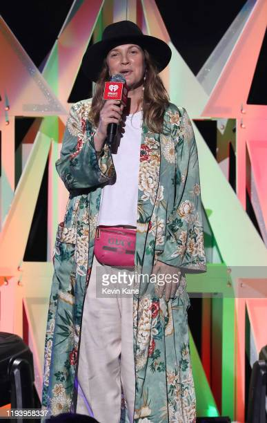 Drew Barrymore onstage during iHeartRadio's Z100 Jingle Ball 2019 at Madison Square Garden on December 13, 2019 in New York City.