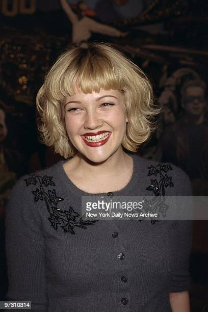 Drew Barrymore promoting her movie 'The Wedding Singer' at Planet Hollywood