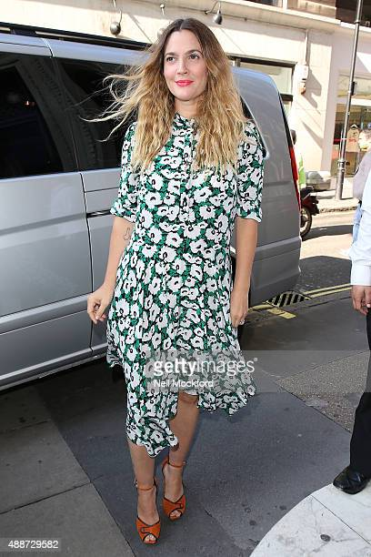 Drew Barrymore seen at Magic Radio on September 17 2015 in London England