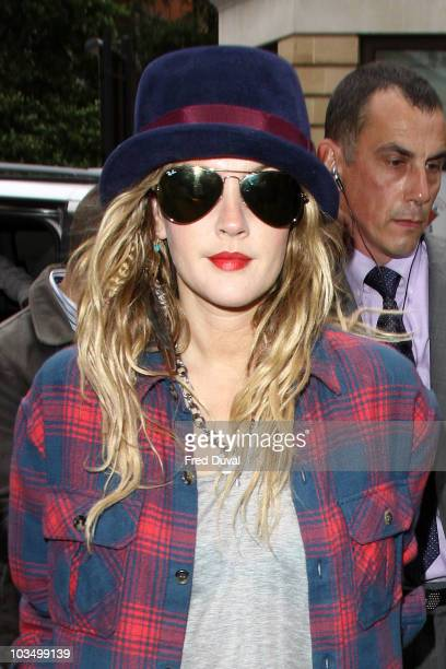 Drew Barrymore sighted leaving Radio One on August 20, 2010 in London, England.