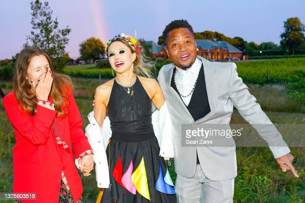 Drew Barrymore, Stacey Bendet and Cuba Gooding Jr. Attend alice + olivia Celebrates Pride With Prom at Parrish Art Museum on June 24, 2021 in Water...