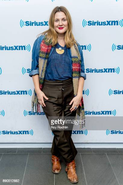 Drew Barrymore visits the Jill Kargman Show on the Raido Andy channel at SiriusXM Studios on December 11 2017 in New York City