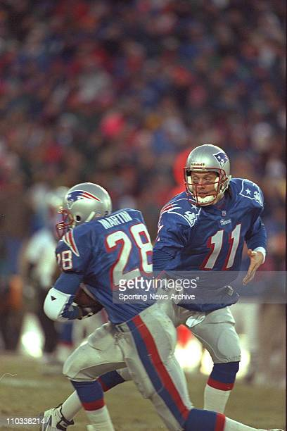 Drew Bledose of the New England Patriots during the Patriots 206 victory over the Jacksonville Jaguars in the aFC Championship Game