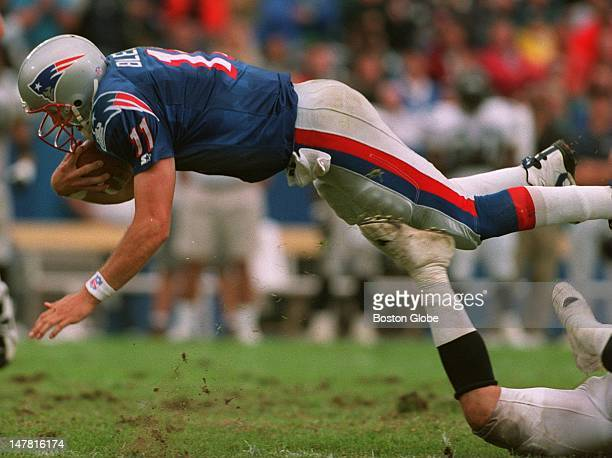 Drew Bledsoe continued his new found running ways here diving for a first down fourth quarter