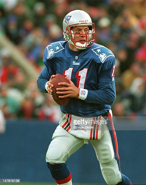Drew Bledsoe in action versus the Indianapolis Colts