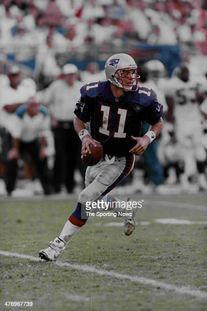 Drew Bledsoe of the New England Patriots circa 1994 in Foxboro Massachusetts