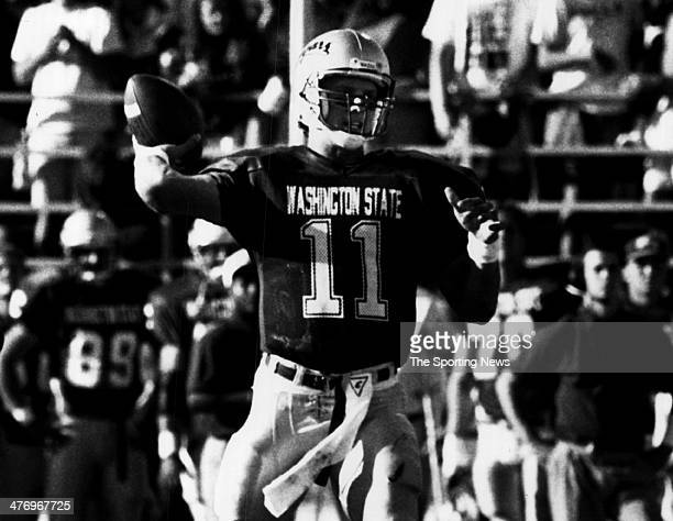 Drew Bledsoe of the Washington State Cougars circa 1991 in Pullman Washington