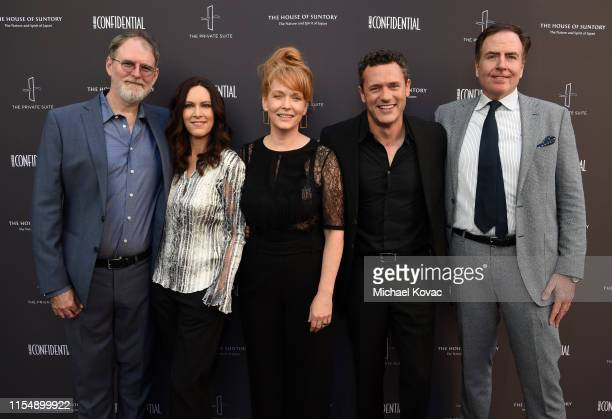 Drew Boughton Isa Dick Hackett Chelah Horsdal Jason O'Mara and David Scarpa attend the Los Angeles Confidential Impact Awards at The LINE Hotel on...