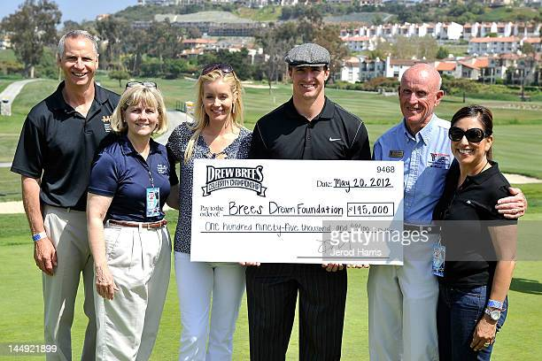 Drew Brees and Brittany Brees at the GREY GOOSE¨ Vodka 19th Hole of the Drew Brees Celebrity Championship on May 20 2012 in San Diego California