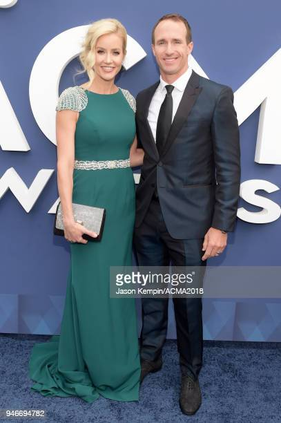 Drew Brees and Brittany Brees attend the 53rd Academy of Country Music Awards at MGM Grand Garden Arena on April 15, 2018 in Las Vegas, Nevada.