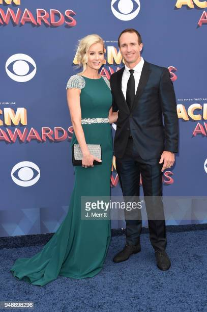 Drew Brees and Brittany Brees attend the 53rd Academy of Country Music Awards at the MGM Grand Garden Arena on April 15, 2018 in Las Vegas, Nevada.