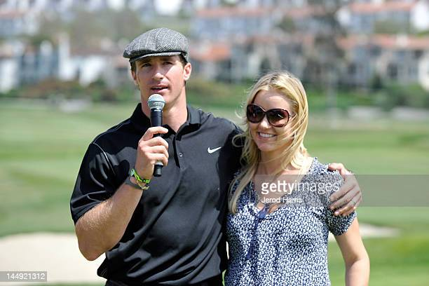 Drew Brees and wife Brittany at the GREY GOOSE Vodka 19th Hole of the Drew Brees Celebrity Championship on May 20 2012 in San Diego California