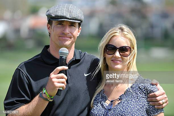 Drew Brees and wife Brittany at the GREY GOOSE Vodka 19th Hole of the Drew Brees Celebrity Championship on May 20, 2012 in San Diego, California.