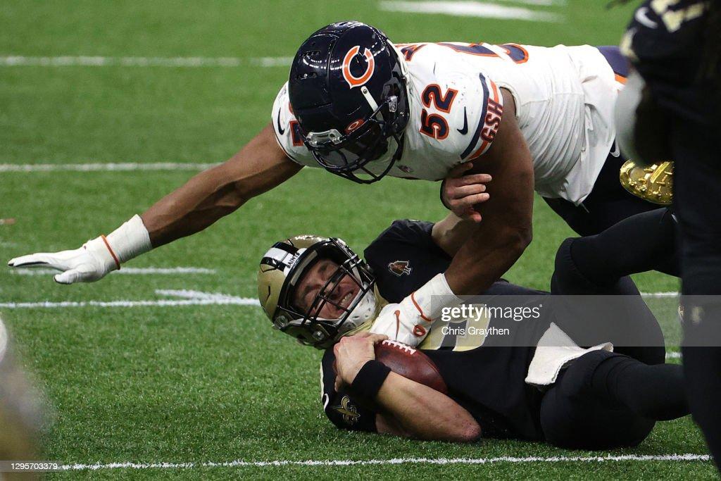 Wild Card Round - Chicago Bears v New Orleans Saints : News Photo