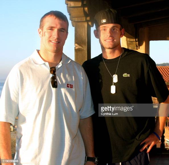 San Diego Chargers Drew Brees: Andy Roddick And Drew Brees At The 2006 Davis Cup