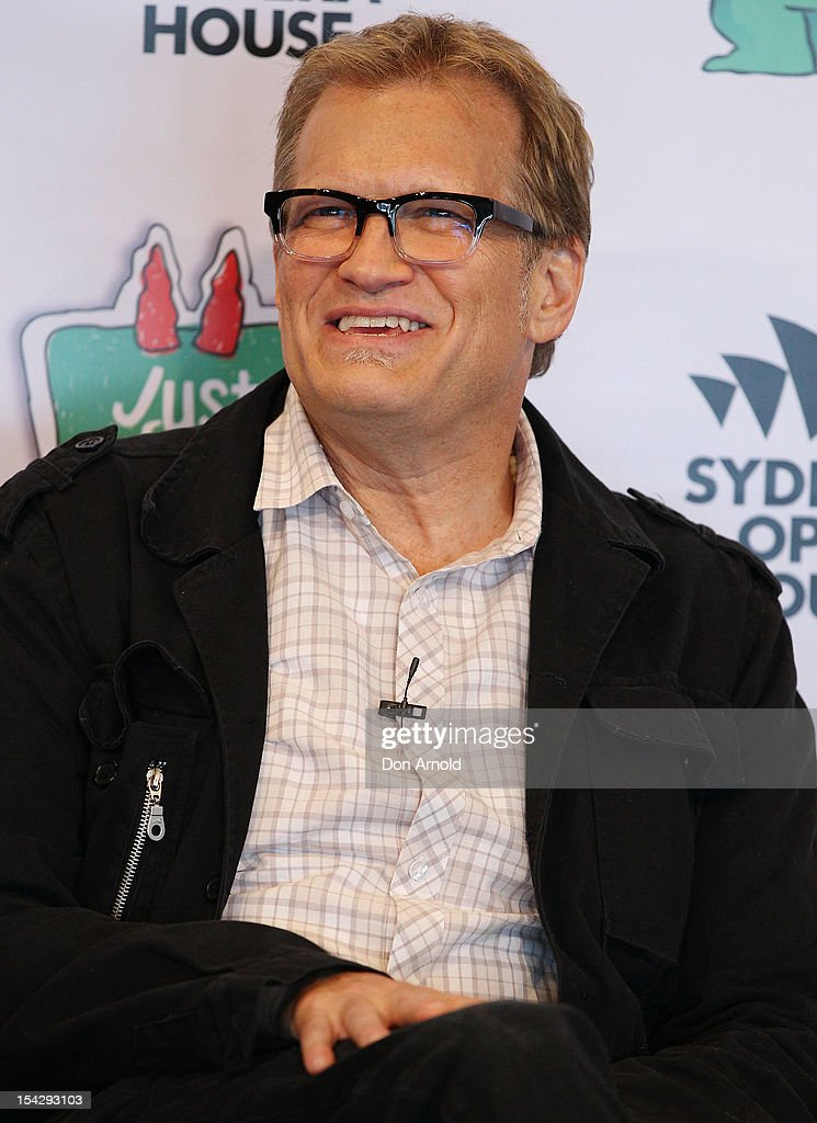 Drew Carey addresses the media during the 'Just For Laughs' Sydney Media Call at Sydney Opera House on October 18, 2012 in Sydney, Australia.