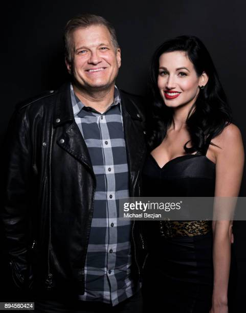 Drew Carey and Amie Harwick pose for The Artists Project at Rock To Recovery 5th Anniversary Holiday Party at Avalon on December 17 2017 in Hollywood...