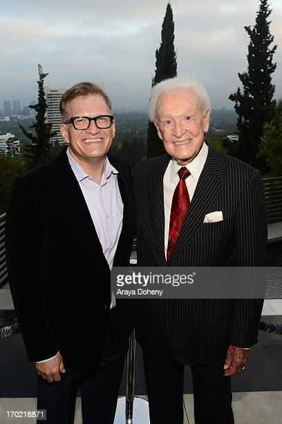 Drew Carey and Bob Barker attend a fundraiser benefiting Mercy For Animals at Private Residence on June 8 2013 in Los Angeles California