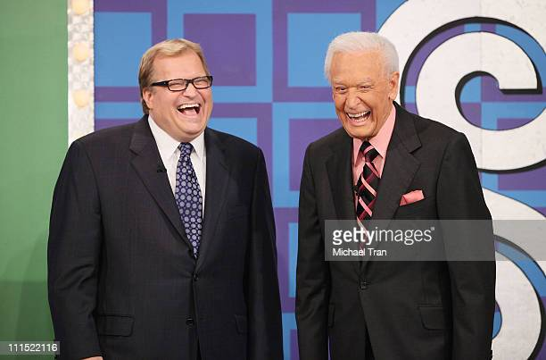 Drew Carey and Bob Barker attend the taping for 'The Price Is Right' held at CBS Television Studios on March 25 2009 in Los Angeles California