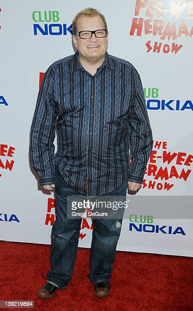 Drew Carey arrives at the Opening Night of 'The PeeWee Herman Show' at Club Nokia at LA Live on January 20 2010 in Los Angeles California