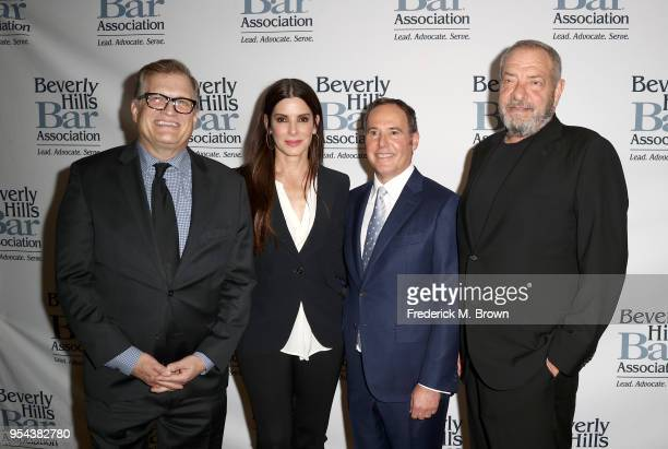 Drew Carey Sandra Bullock Cliff GilbertLurie and Dick Wolf attend Beverly Hills Bar Association's 2018 Entertainment Lawyer Of The Year Dinner at...