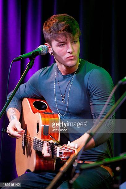 Drew Chadwick of Emblem3 performs at the Q102 iHeartRadio Performance Theater on June 4 2013 in Bala Cynwyd Pennsylvania