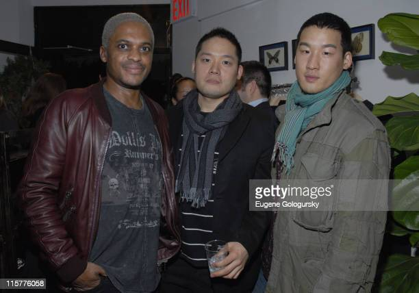 Drew Dasent, Eddy Chai and Richard Chai during Oliver Spencer New York Store Opening at Oliver Spencer Store in New York City, New York, United...