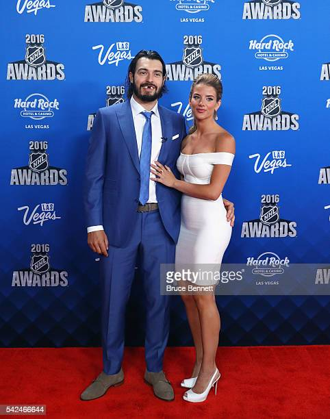Drew Doughty of the Los Angeles Kings and Nicole Arruda attend the 2016 NHL Awards at the Hard Rock Hotel Casino on June 22 2016 in Las Vegas Nevada