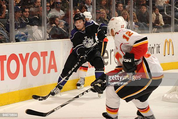 Drew Doughty of the Los Angeles Kings skates during a game against the Calgary Flames at Staples Center on November 21, 2009 in Los Angeles,...